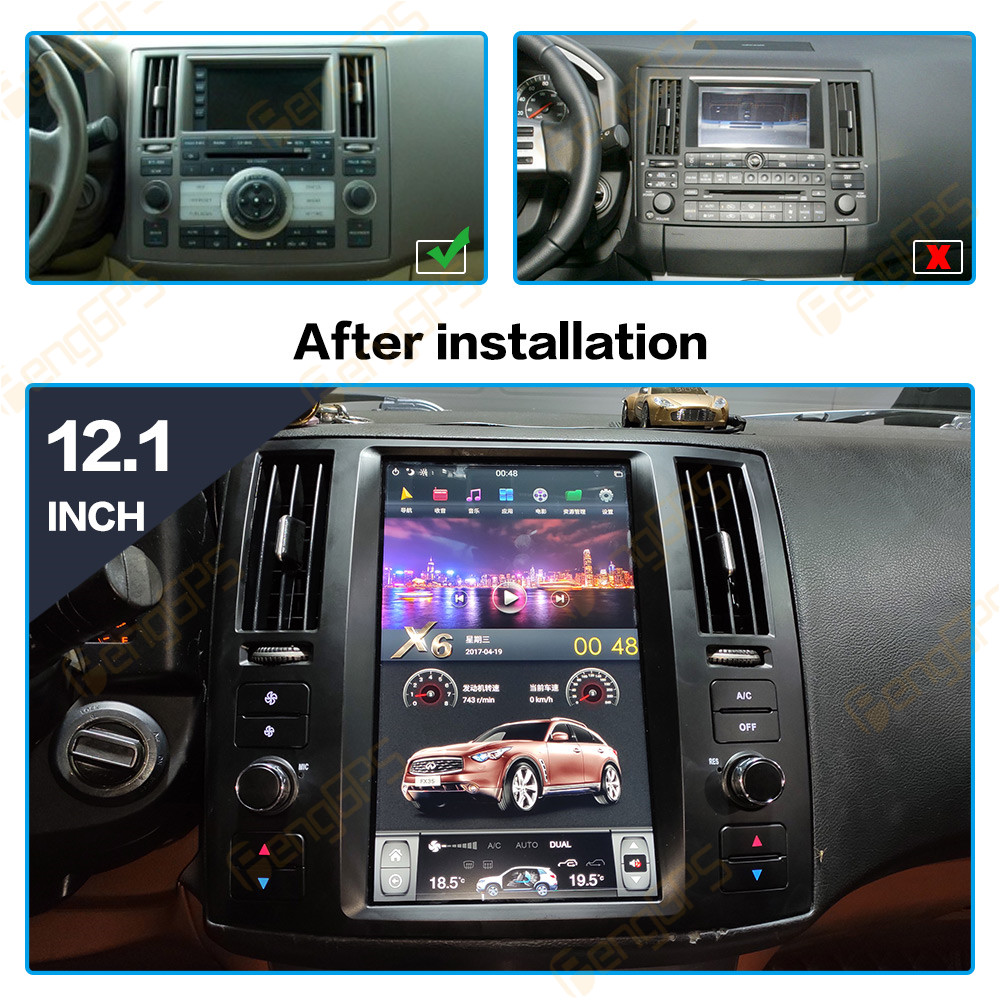 Android 9.0 Car Navigation Stereo For Infiniti FX35 for FX45 2004-2008 Multimedia Head Unit Audio Car DVD Player 10.4 inch IPS Pakistan