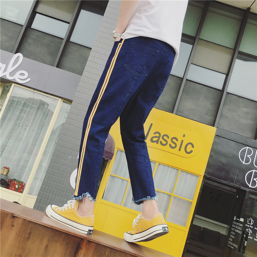 Spring And Summer New Style Men Capri Jeans Teenager Loose Fashion Harem Skinny Pants Fashion Casual MEN'S Trousers Batch