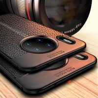Leder Fall Für Huawei Mate 30 Mate30 Pro Fall Abdeckung Weichen Silikon Stoßstange Telefon Zurück Fall auf Für Huawei Mate 30 Pro 20 Lite
