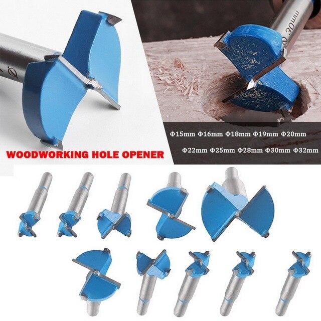 Foret de trou de serrure de porte de charnière de lame de couteau dalliage de trou de travail du bois avec la tige ronde pour forer le bois de coupe