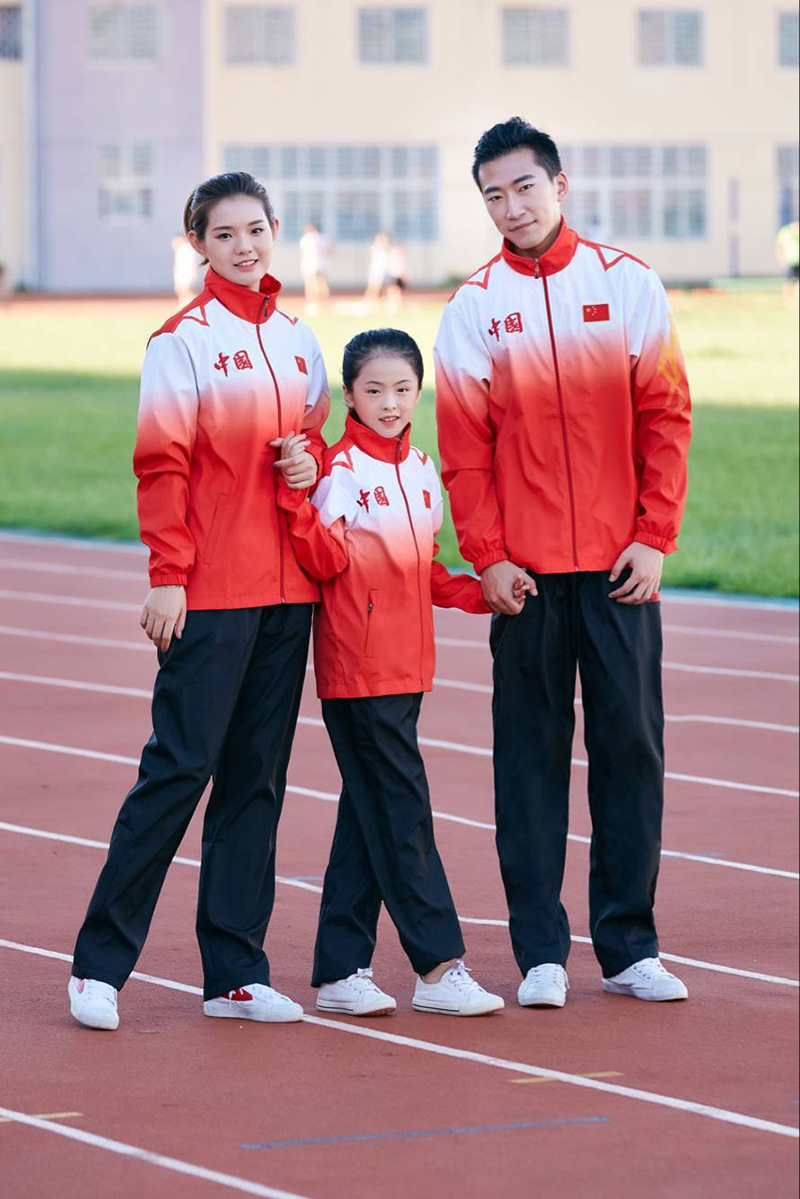Spring And Autumn National Team Sports Set Long Sleeve Men And Women School Uniform Sports Will Receive Service Uniform