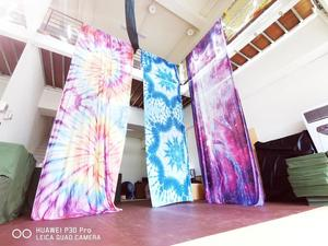 Image 5 - NEW 15Yards 13.7M Ombre Aerial Silk High Quality Gradational Colors Aerial Yoga Anti gravity for yoga training Yoga for sporting