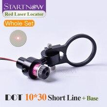 Juego de Localizador láser con soporte, 10x30s, 650nm, 5mw, 5V, módulo láser de punto rojo, puntero de haz de punto para posicionamiento de máquina de marcado láser