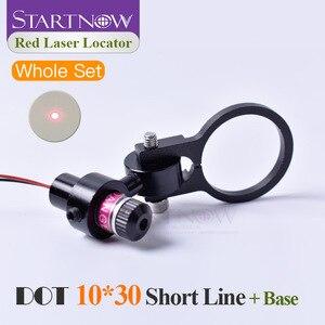 Image 1 - Set 10*30s 650nm 5mw 5V With Bracket Laser Dot Red Module Laser Locator Dot Beam Pointer For Laser Marking Machine Positioning