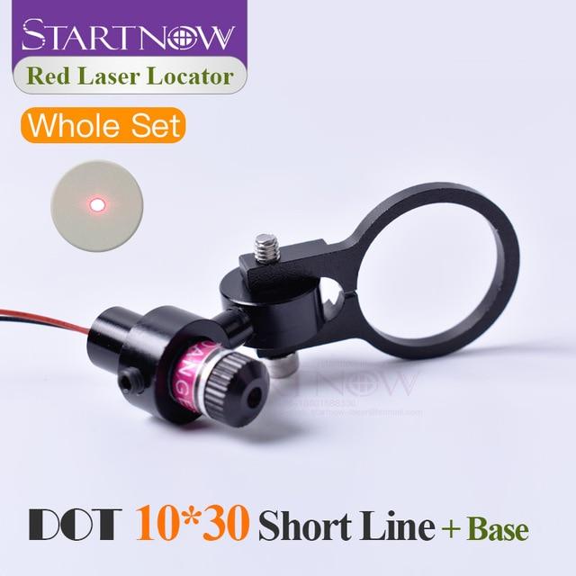 Set 10*30s 650nm 5mw 5V With Bracket Laser Dot Red Module Laser Locator Dot Beam Pointer For Laser Marking Machine Positioning