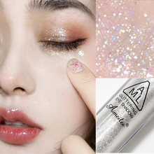 1pcs Diamond Glitter Eyeshadow Women Makeup Nude Shimmer Liquid Eye Shadow Mineral Pigment Long-Lasting Cosmetics Maquillaje
