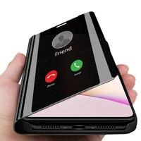 Funda abatible inteligente para Samsung Galaxy Note 10 Plus, cubierta protectora de cuero con espejo para Samsung Note 10 Plus lite, no 10