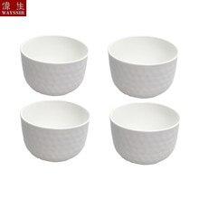 4 pçs conjunto martelo olho super branco porcelana redonda tigela de salada de frutas do agregado familiar sopa arroz tigela jantar talheres cerâmica bola prato