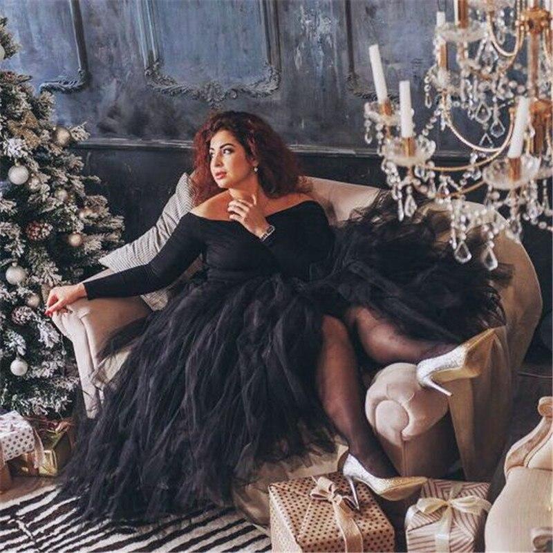 Image 2 - 100cm Length Wedding DIY Skirt Tulle Overskirt Sexy Pleated  Fashion Handmade Woman Tutu Female Long Skirt Lolita Saia Longawedding  skirt tullewomen tutuskirt tulle