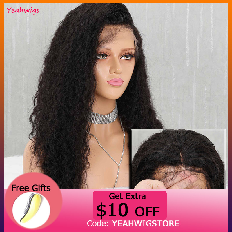 Yeahwigs Swiss Lace 13*4 Brazilian Lace Front Wig Transparent Curly Human Hair Wigs