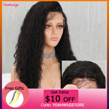 Yeahwigs Swiss Lace 13*4 Brazilian Lace Front Wig Transparent Curly Hum