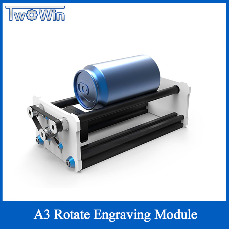 A3 Rotate Engraving Module Laser Engraver Machine Y Axis DIY Update Kit With Stepper Motor Wire For Column Cylinder Engraver