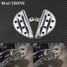 Motorcycle Chrome Passenger Floorboards Rear Foot Pegs Footrest For Harley Softail Heritage Touring Electra Glide Sportster Dyna