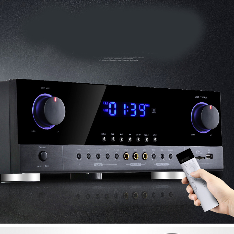 G5-AK390 Professional Stage KTV Karaoke Home Audio Amplifier With SD USB 800W 220V 2.0 High Power 4.0 Bluetooth Amplifier