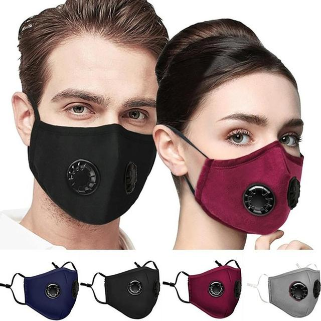10pcs/lot Double Breathing Valve PM 2.5 Mask Activated Carbon Filter Anti Dust Mask Anti Bacterial Masks Flu-proof Mouth Mask 1