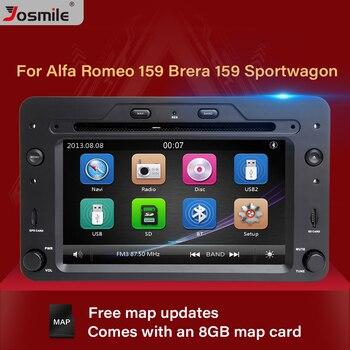 Josmile 2 din Car DVD Player For Alfa Romeo 159 Brera Spider Sportwagon Navigation Multimedia Stereo GPS AutoRadio Head Unit