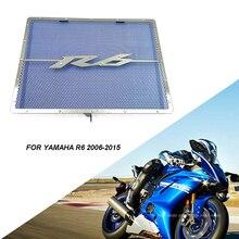 CNC Aluminium Heizkörper Schutz Grill Grille Abdeckung Protector Net für 2006 2015 Yamaha YZF R6 YZFR6 YZF R6 Zubehör Motorrad par