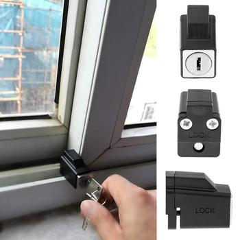 Aluminum Alloy Sliding Window Restrictor Lock with 2 Keys Child Safety Protection Lock anti-theft Door Lock Push Window stainless steel window guard window door restrictor child safety security chain lock with keys