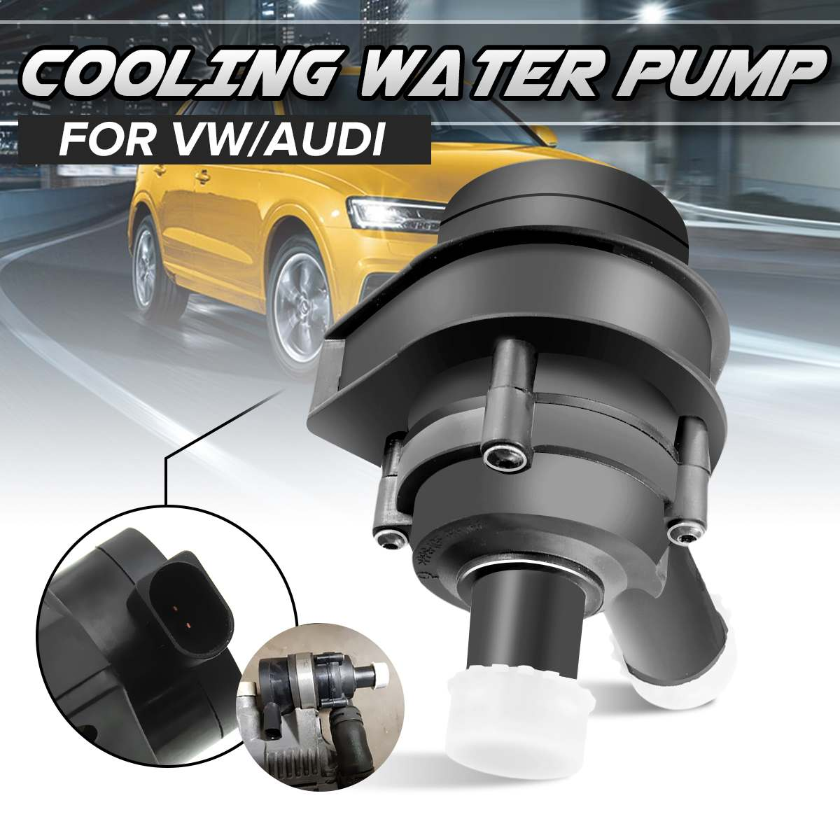 Car Engine Cooling เสริมเพิ่มเติมปั๊มน้ำ 1K0965561J 1K0 965 561 J สำหรับ VW Passat B5 B6 Jetta Golf CC สำหรับ Audi A3