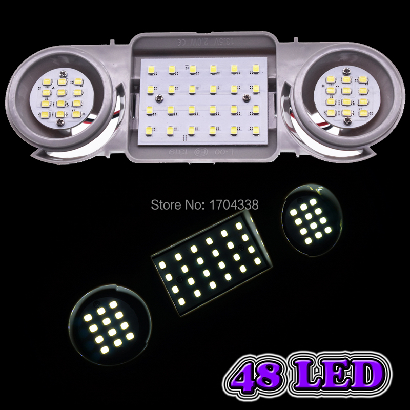 FOR VOLKSWAGEN SCIROCCO 2009 On 48 BLUE LED FRONT INTERIOR ROOF COURTESY LAMP
