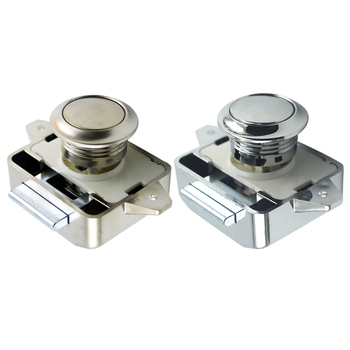 2020 New Camper Car Push Lock RV Caravan Boat Motor Home Cabinet Drawer Latch Button Locks For Furniture Hardware