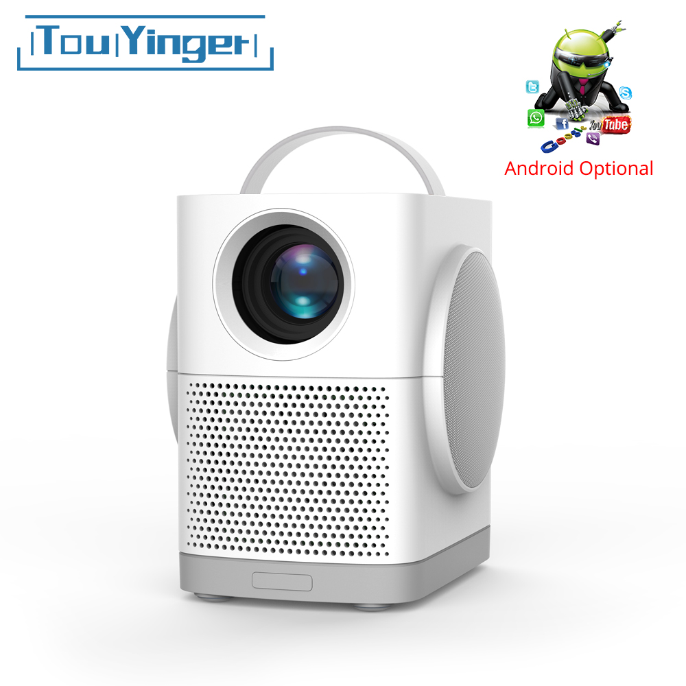 TouYinger H1 portable mini led projector support Full HD video bluetooth best projector for Children Home Cinema movie 3000lumenLCD Projectors   -