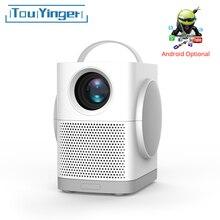 Touyinger h1 portátil mini projetor led suporte de vídeo hd completo bluetooth melhor projetor para crianças cinema em casa filme 3000 lúmen