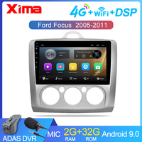 9 inch Android 9.0 Car Radio Dvd Player For ford focus EXI MT 2 3 Mk2 2004 2005 2006 2007 2011 2Din GPS Multimedia Player