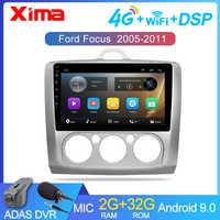 9 pouces Android 9.0 autoradio lecteur Dvd pour ford focus EXI MT 2 3 Mk2 2004 2005 2006 2007-2011 2Din GPS lecteur multimédia