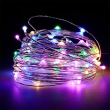 Led Light String Color Changing Battery Power 3 X AAA Christmas Lights Holiday Fairy Luces De Navidad