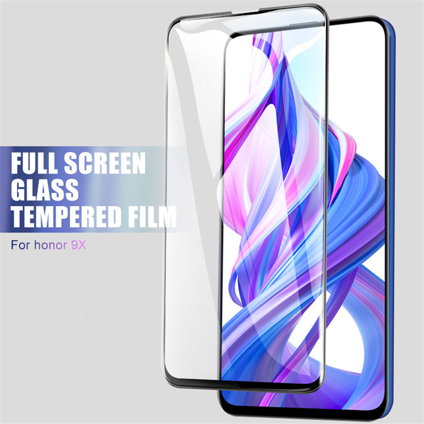 Image 4 - 9D Full Cover Tempered Glass For Huawei honor 9X 8X 8C 8A Screen Protector For Honor 10 9 8 Lite Note 10 View 20 V20 Glass Film-in Phone Screen Protectors from Cellphones & Telecommunications