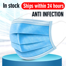12 24 hours Shipping Masks disposable protective 3 layer Anti Bacterial dust proof breathable waterproof Meltblown cloth mask