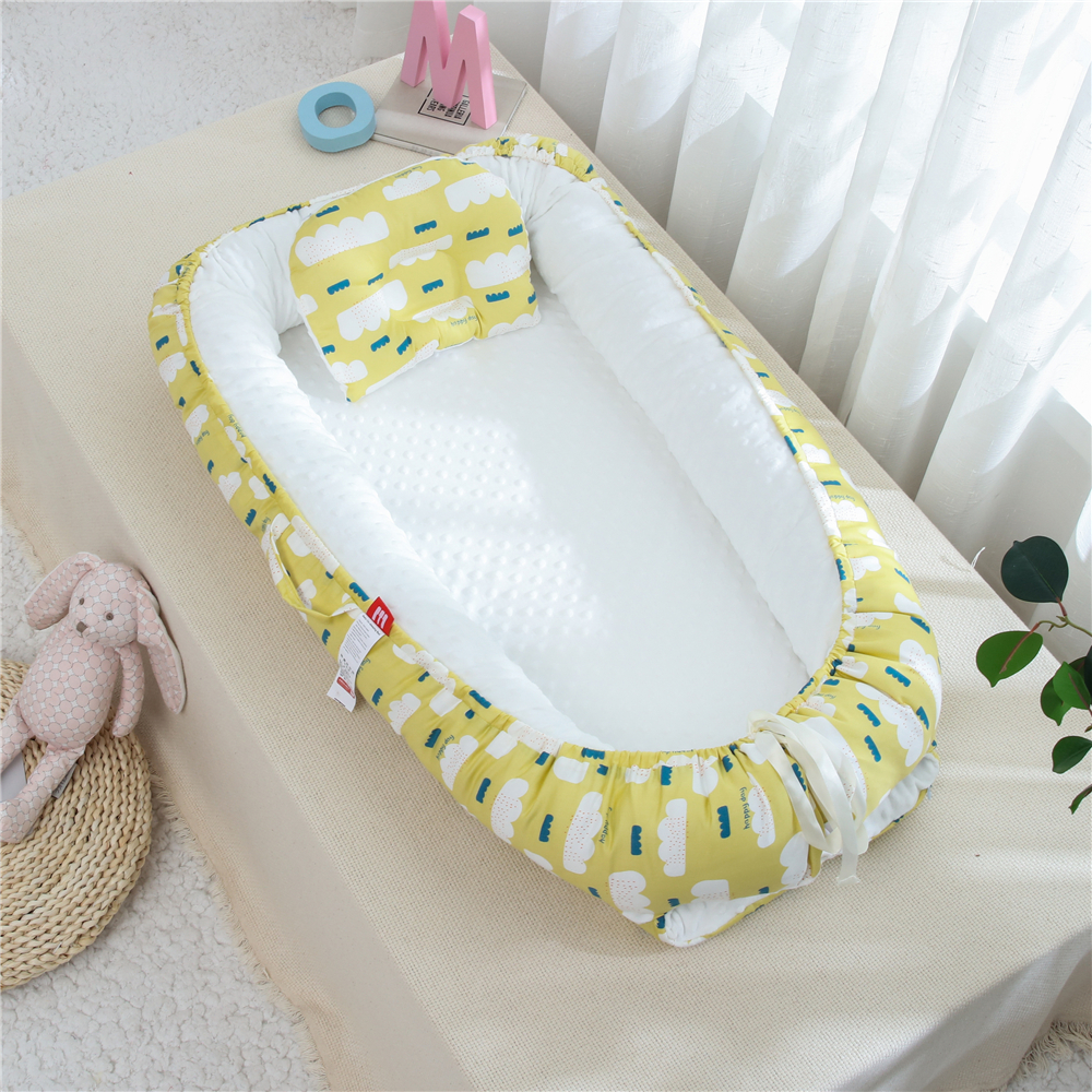 90X50cm Baby Crib Adjustable Baby Bed Nest Cradle Baby Coop Cotton Travel Carry Cot Dropshipping