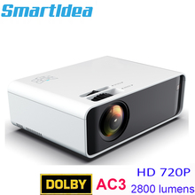 Smartldea ST90 พื้นเมือง 1280x720 P HD LED Home Projector รองรับ Dolby AC3 เสียง Android WIFI proyector ตัวเลือกวิดีโอเกม Beamer