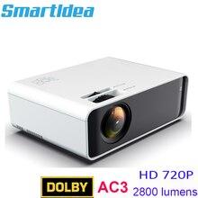 Smartldea ST90 الأصلي 1280x720p HD led الرئيسية العارض دعم دولبي ac3 الصوت أندرويد واي فاي proyector الخيار لعبة فيديو متعاطي المخدرات