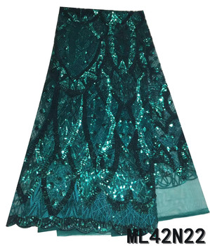 BEAUTIFICAL lace tissu green french lace fabric embroidery tissu for wedding lace material african ML42N22
