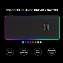LED Light Gaming Mouse Pad RGB Large Keyboard Cover Non-Slip Rubber Base Computer Carpet Desk Mat PC Desk Play Mat With Backlit