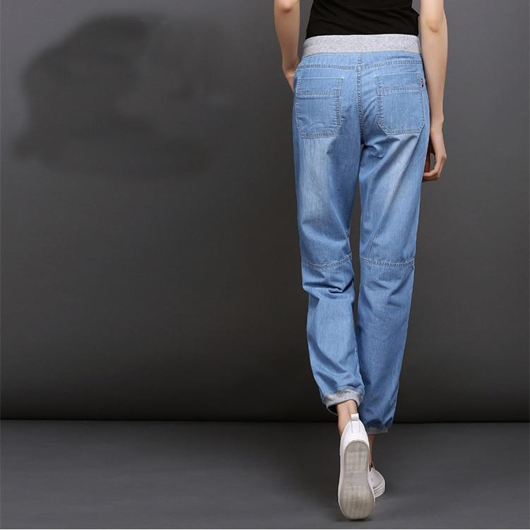 2019 lente en zomer nieuwe dunne jeans voor vrouwen meisjes vrouwelijke mode bloeiers harembroek losse negen broek-in Spijkerbroek van Dames Kleding op  Groep 2