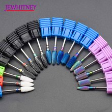 купить Blue Tungsten Round Flame Nail Drill Bit Carbide Milling Cutter Manicure Ceramic Drill Bits Electric Machine Nail Accessories дешево
