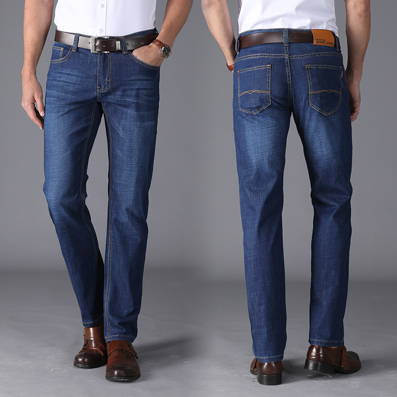 Men New Style Jeans Young MEN'S Straight-Cut Casual Loose And Plus-sized Jeans High-waisted Slim Fit MEN'S Trousers