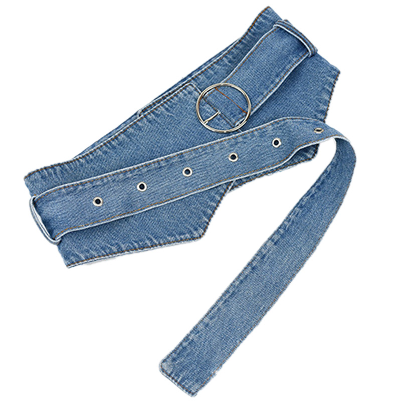 Wide Waistband Tie Belt Belt Wear Denim Personality Belt Vintage Belt