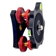 Veledge lp 64 tripé base de nivelamento com 3 mostradores de ajuste para tripé de câmera