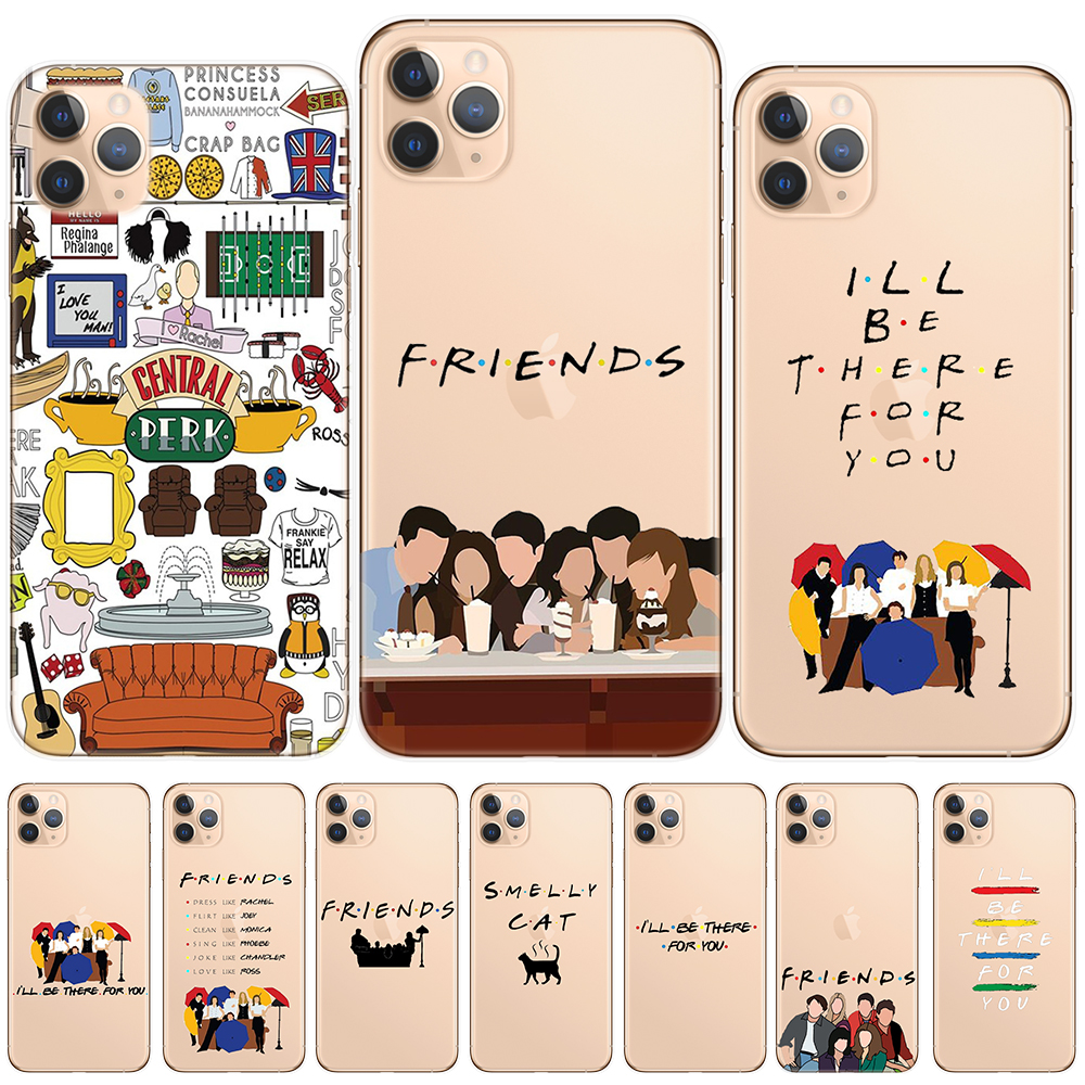 Friends TV Show Central Perk Coffee Silicone Phone Case For iPhone 11 Pro Max X XS Max XR 6 6S 7 8 Plus 5 5S SE 2020 SE2 Cover image
