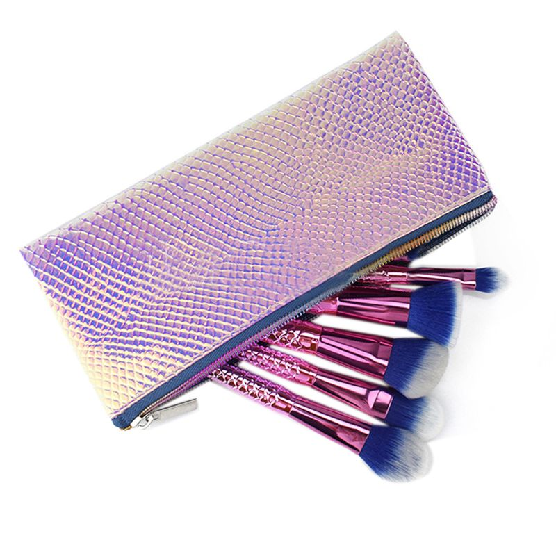 Cosmetic Bag Makeup Bag Toiletry Travel Bag Handy Holographic Bag Protable Wash Pouch Waterproof Zipper Handbag Carry Case Organ