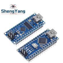1 шт. акция для arduino Nano 3,0 Atmega328 контроллер совместимый модуль платы PCB макетная плата без USB V3.0