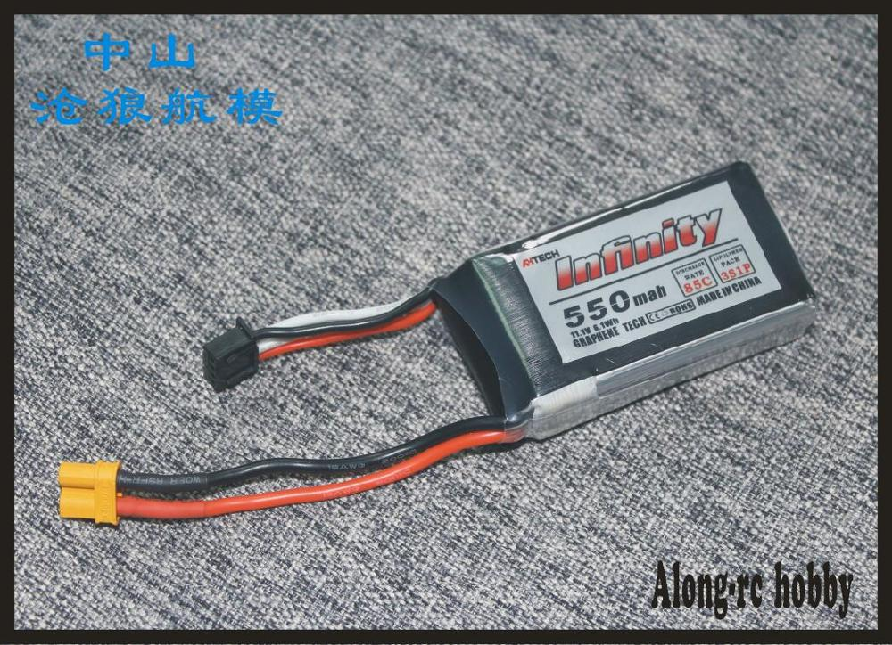 RC MODEL RC airplane BOAT spare part hobby plane model li-po battery Infinity <font><b>3s</b></font> <font><b>550mah</b></font> 85c 3 cells 11.1V jst or xt30 plug image