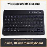 Mini Tablet tastiera Wireless tastiera Bluetooth ricaricabile USB tastiera spagnola russa per IPad 8th 7th Android IOS Windows