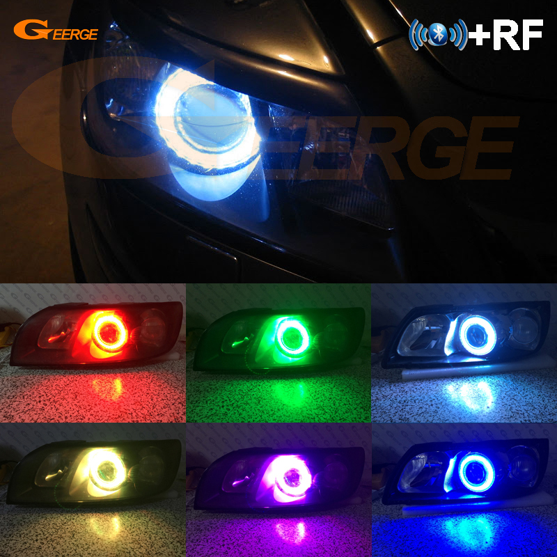 RF Remote Bluetooth APP Multi-Color Ultra Bright RGB LED Angel Eyes Kit For Volvo C30 2006 2007 2008 2009 Pre Facelift