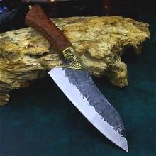 Острый прямой нож longquan ручной работы для обвалки рыбы открытый