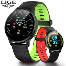 LIGE 2019 Smart Watch Men Wrist Blood Pressure Heart Rate Monitor Fitness Tracker Pedometer Waterproof Bracele